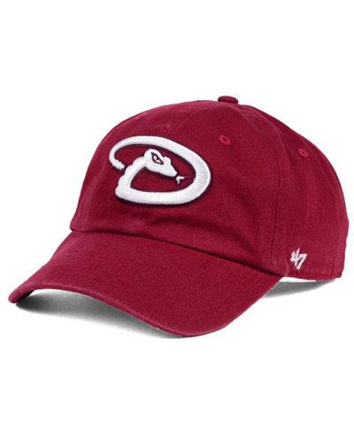'47 Brand Arizona Diamondbacks Cardinal and White Clean Up Cap