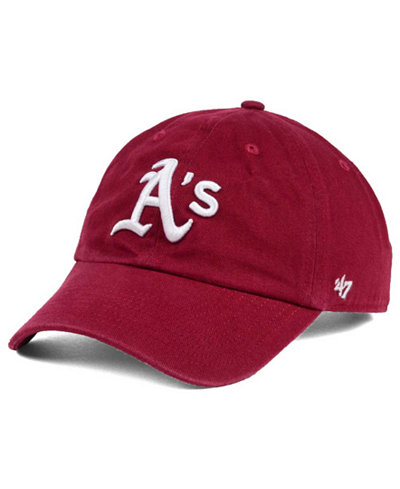'47 Brand Oakland Athletics Cardinal and White Clean Up Cap