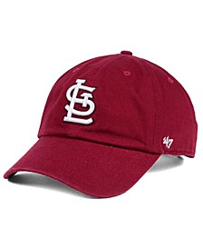 St. Louis Cardinals Cardinal and White Clean Up Cap