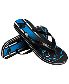 Forever Collectibles Carolina Panthers Gradient Big Logo Flip Flops