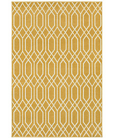 "CLOSEOUT! JHB Design  Soleil Helix Gold 5'3"" x 7'6"" Indoor/Outdoor Area Rug"