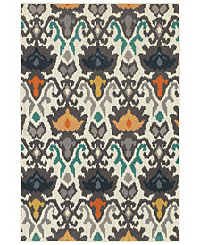 "CLOSEOUT! JHB Design  Soleil Ikat 1'10"" x 7'6"" Indoor/Outdoor Runner Rug"