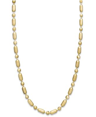 "14k Gold Necklace, 20"" Dot Dash Chain (1mm)"