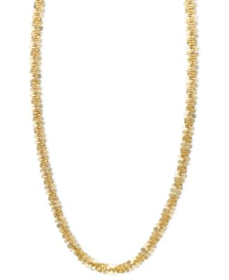 """14k Gold Necklace, 20"""" Faceted Chain (1-1/2mm)"""