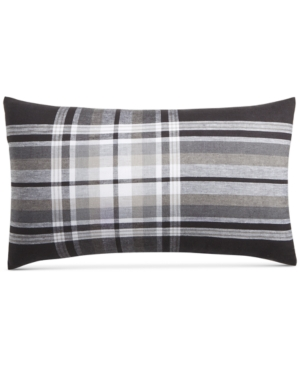 Hotel Collection Linen Plaid 14 x 24 Decorative Pillow Created for Macys Bedding