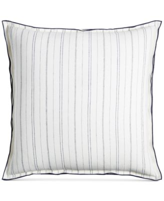 CLOSEOUT!  Linen Ticking Stripe European Sham, Created for Macy's