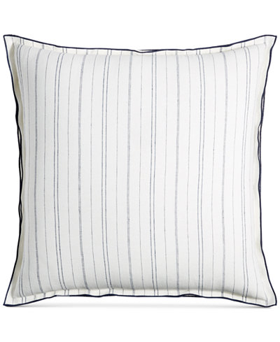 CLOSEOUT! Hotel Collection Linen Ticking Stripe European Sham, Created for Macy's