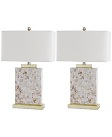 Set of 2 Troy Shell Table Lamps