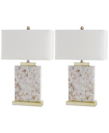 Safavieh Set of 2 Troy Shell Table Lamps