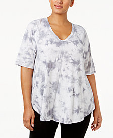 Calvin Klein Performance Plus Size Printed V-Neck T-Shirt
