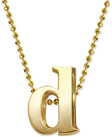 Initial Pendant Necklace in 14k Gold