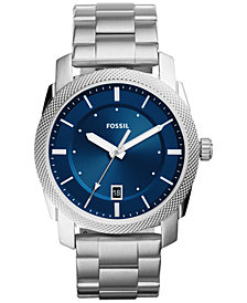 Fossil Men's Machine Stainless Steel Bracelet Watch 42mm FS5340