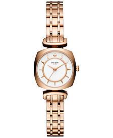 kate spade new york Women's Barrow Rose Gold-Tone Stainless Steel Bracelet Watch 24mm KSW1322