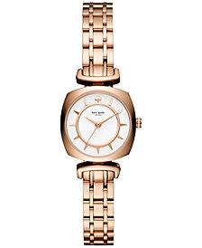 kate spade new york Women's Barrow Rose Gold-Tone Stainless Steel Bracelet Watch 24mm KSW1322