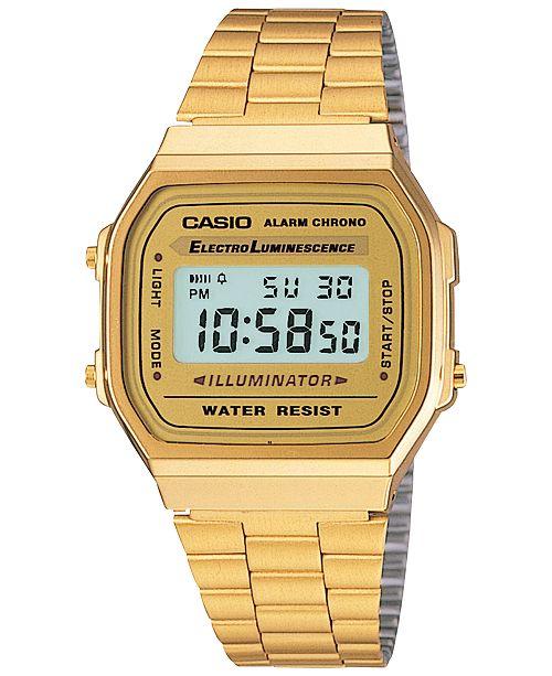 5922c525ba9 ... Casio Men s Digital Vintage Gold-Tone Stainless Steel Bracelet Watch  39x39mm A168WG- ...