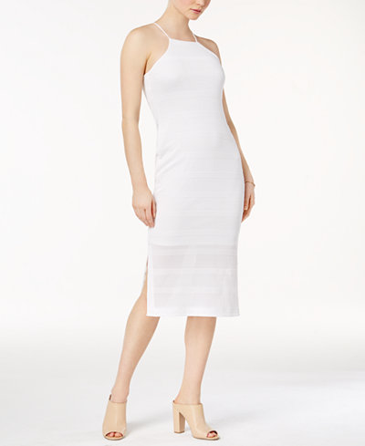 Bar III Cutaway Textured Dress, Created for Macy's