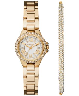 Image of Michael Kors Women's Petite Camille Stainless Steel Bracelet Watch 26mm Gift Set