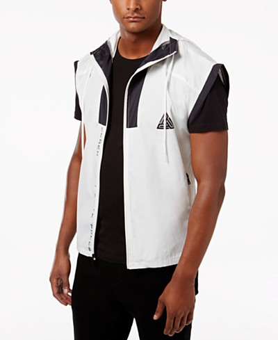 Black Pyramid Men's Mesh-Trim Hooded Vest