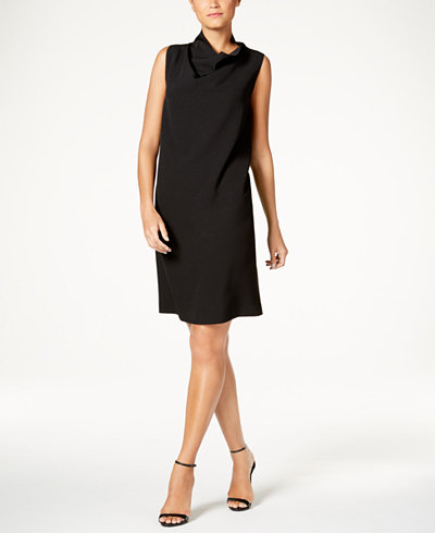 Anne Klein Cowl-Neck Sheath Dress