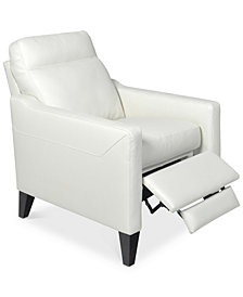 CLOSEOUT! Emilda Leather Pushback Recliner, Created for Macy's