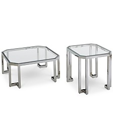 Madison Square Coffee Table Set, 2-Pc. Set (Square Coffee Table & End Table)