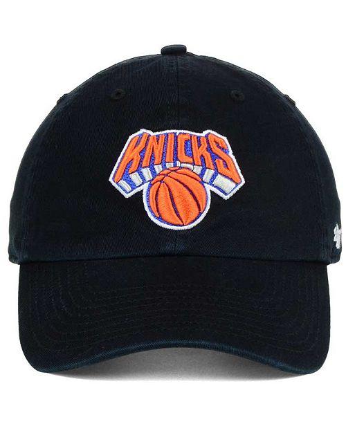 47 Brand New York Knicks Clean Up Cap - Sports Fan Shop By Lids ... 1bf8d3b3689