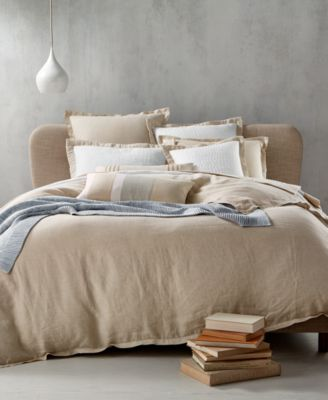 CLOSEOUT! Linen Natural Full/Queen Duvet Cover