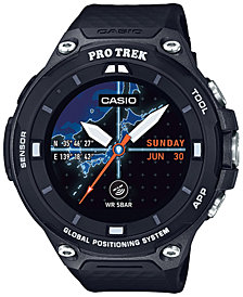 Casio Men's Pro Trek Black Resin Strap Smart Watch 62mm WSD-F20BK