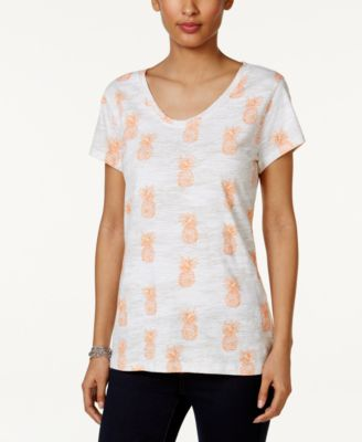 Image of Style & Co Cotton Printed T-Shirt, Created for Macy's