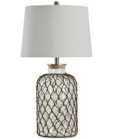 StyleCraft Seeded Netting Table Lamp