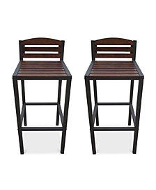 Parlen Outdoor Bar Stool (Set Of 2), Quick Ship