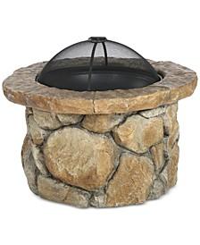 Dustyn Round Iron Wood Fire Pit