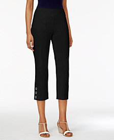 JM Collection Petite Pull-On Capris, Created for Macy's