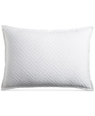 Greek Key Cotton Quilted King Sham, Created for Macy's