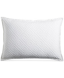 Hotel Collection Greek Key Cotton Quilted King Sham, Created for Macy's
