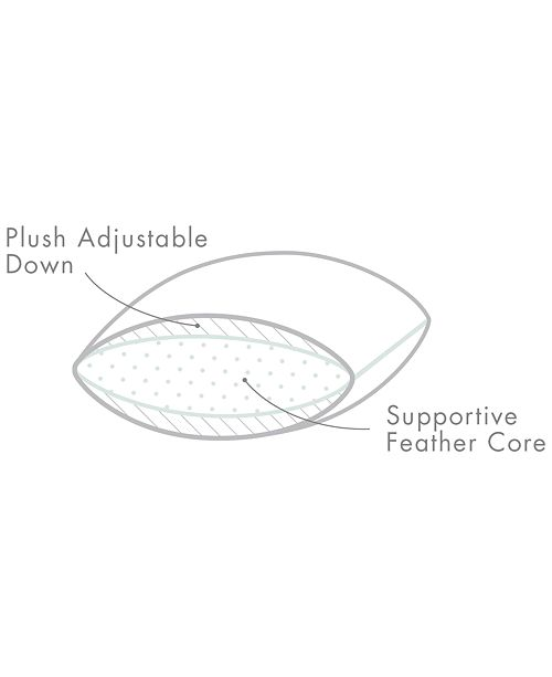 Calvin Klein Diamond Grid Feather Amp Down Wrap Support