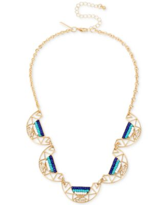 Image of M. Haskell for INC International Concepts Gold-Tone Pavé & Bead Statement Necklace, Created for Macy
