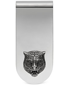 Gucci Men's Sterling Silver Cat Head Motif Money Clip YBF45690500100U