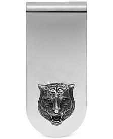 Gucci Men's Sterling Silver Cat Head Motif Money Clip YBF45690500100U