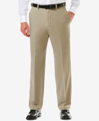 Image of Men's Haggar® Cool 18® PRO Classic-Fit Flat-Front Expandable Waist Pants