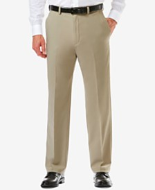 Men's Haggar Cool 18 PRO® Classic-Fit Expandable Waist Flat Front Stretch Dress Pants
