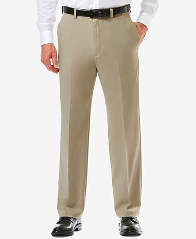 Men's Haggar® Cool 18® PRO Classic-Fit Flat-Front Expandable Waist Pants