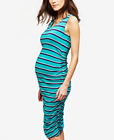 A Pea In The Pod Maternity Striped Sheath Dress