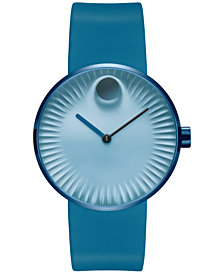 Movado Men's Swiss Edge Blue Silicone Strap Watch 40mm 3680042