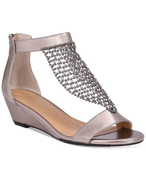 d525457580b2 ... Thalia Sodi Tibby Mesh Embellished Wedge Sandals