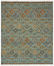 "Loloi Owen OW-04 Sea/Blue 5' x 7'6"" Flatweave Area Rug"