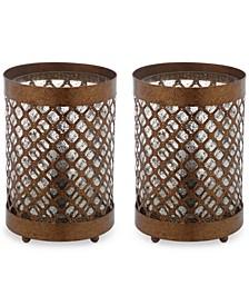 Set of 2 Borden Hurricane Bronze-Finish Table Lamps