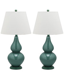 Safavieh Set of 2 Cybil Double Gourd Table Lamps