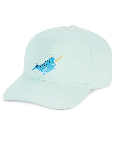 Celebrate Shop Narwhal Embroidered Baseball Cap