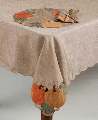 "Pumpkin Gardenia 60"" x 84"" Tablecloth"